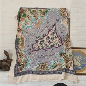 Very large JCrew map of Italy scarf